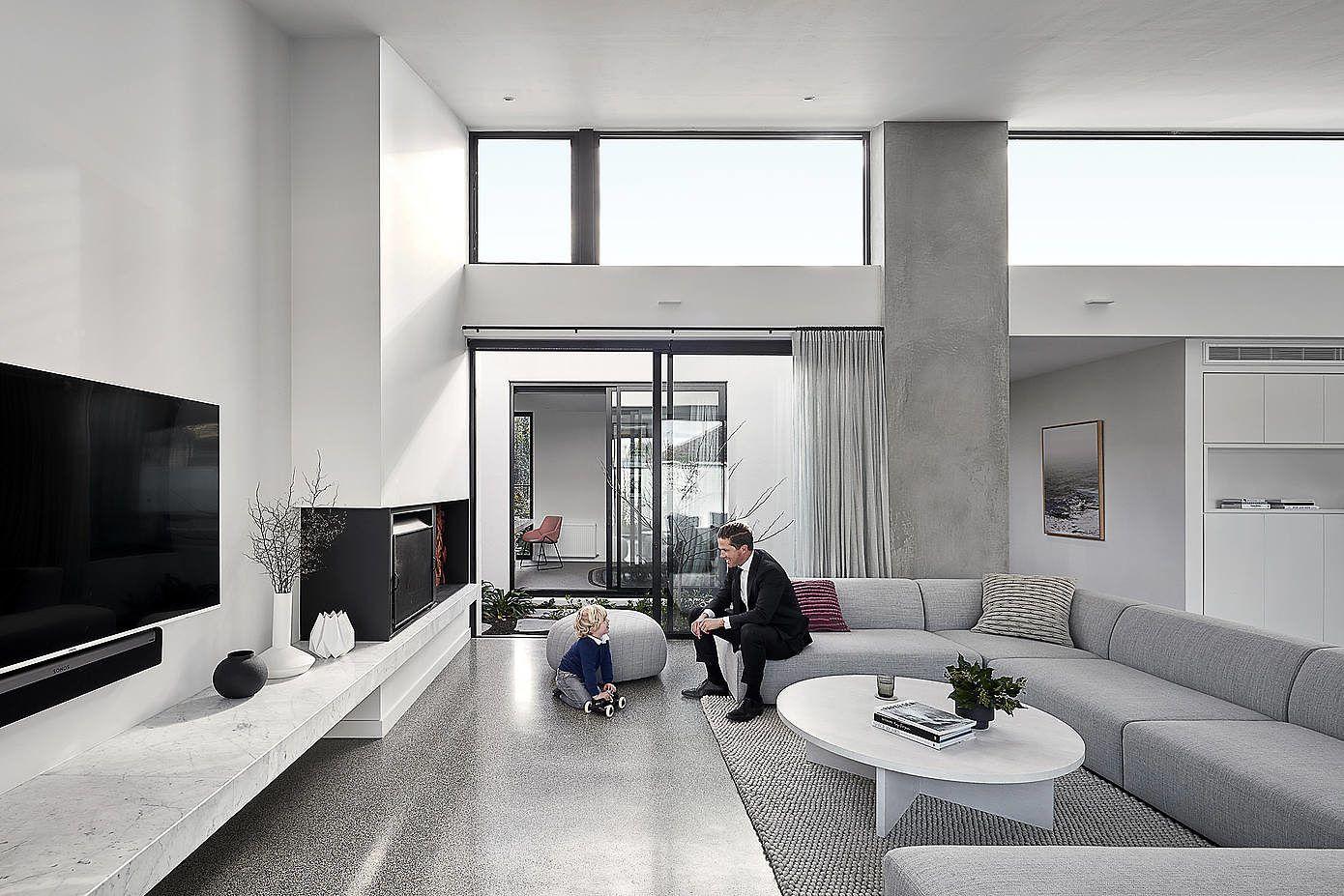 墨尔本 极简·黑白灰 family house设计欣赏|Tom Robertson Architects - 1