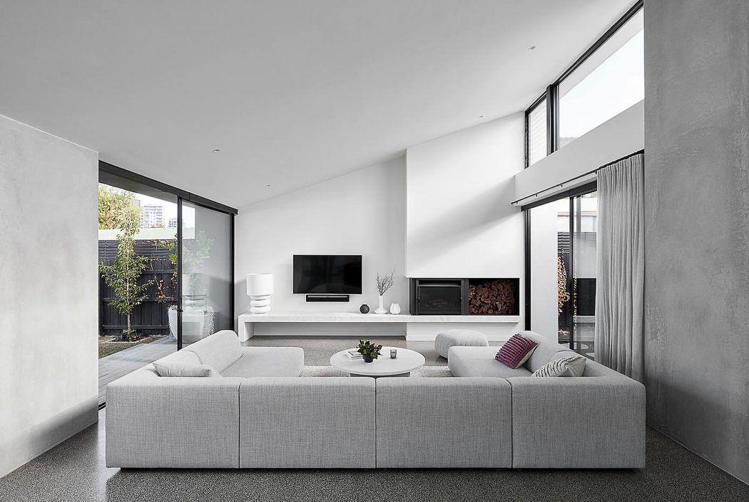 墨尔本 极简·黑白灰 family house设计欣赏|Tom Robertson Architects - 0