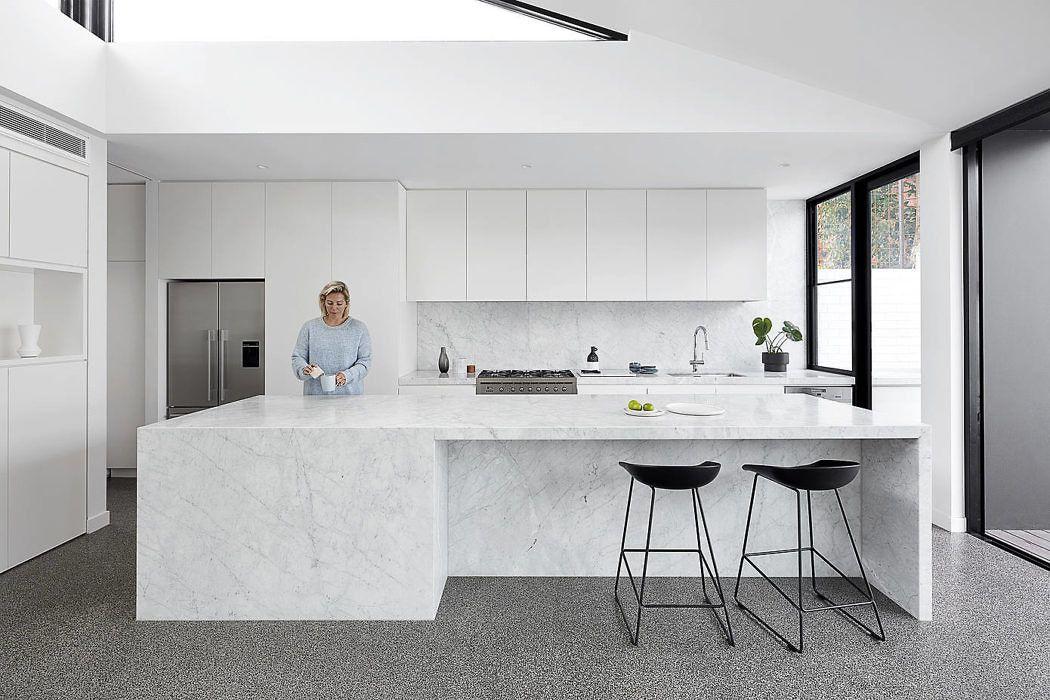 墨尔本 极简·黑白灰 family house设计欣赏|Tom Robertson Architects - 3