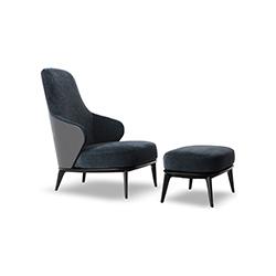 莱斯利休闲椅 Leslie Armchair 米诺蒂 Minotti品牌 Rodolfo Dordoni 设计师