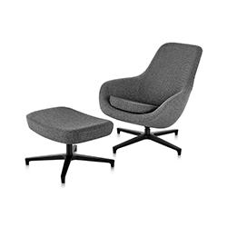 萨伊巴躺椅&脚踏 Saiba lounge chair & ottoman 深泽直人 Naoto Fukasawa