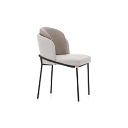 黑线餐椅 Fil Noir Dining Chair 米诺蒂 Minotti品牌 Christophe Delcourt 设计师