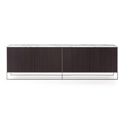 考尔德青铜边柜 Calder Bronze Side Cabinet 米诺蒂 Minotti品牌 Rodolfo Dordoni 设计师