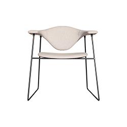 Masculo办公雪橇椅 Masculo Sledge Chair 加姆弗拉泰西 GamFratesi