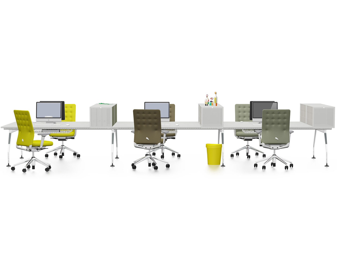工作卡位/桌组|职员办公桌|创意家具|现代家居|时尚家具|设计师家具|定制家具|实木家具|Ad Hoc 桌面组合办公台