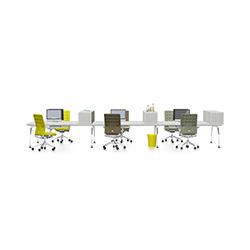 Ad Hoc 桌面组合办公台 Ad Hoc workstations 维特拉 vitra品牌 Antonio Citterio 设计师