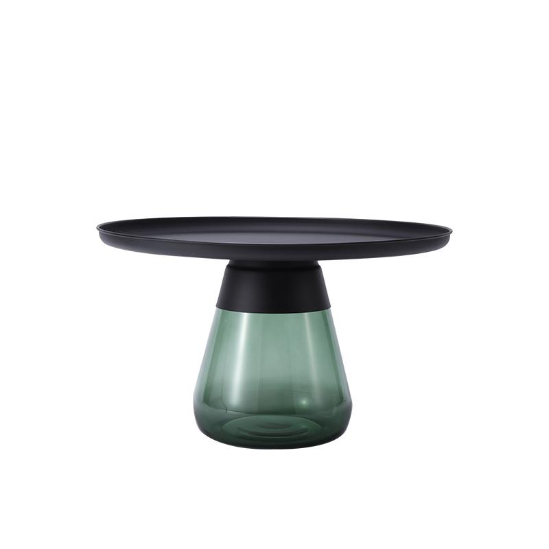 客厅|茶几/边几|创意家具|现代家居|时尚家具|设计师家具|北欧圆形玻璃边几