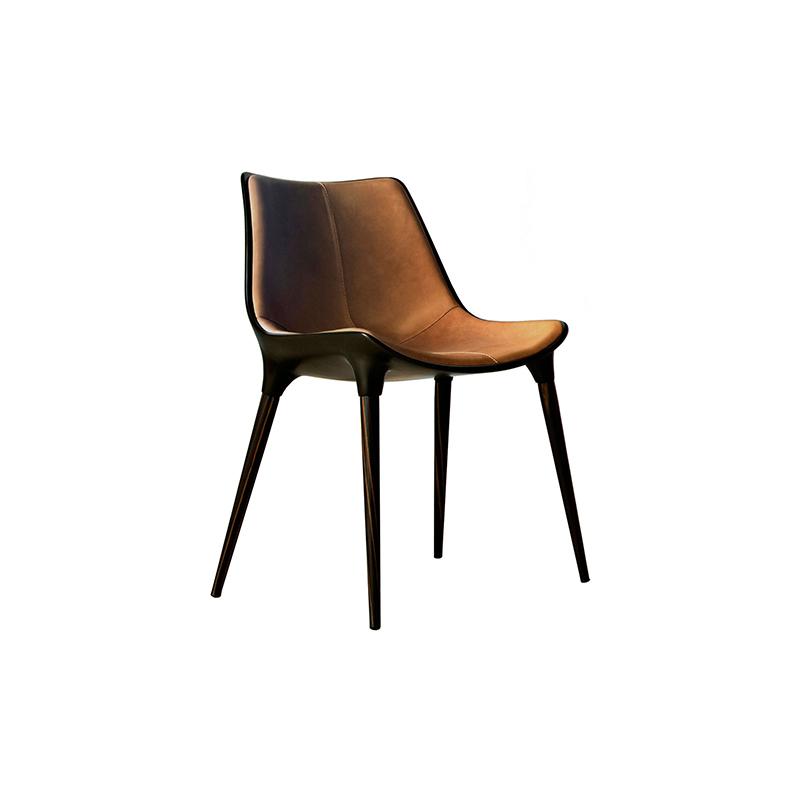 餐厅|餐椅|创意家具|现代家居|时尚家具|设计师家具|北欧真皮金属餐椅