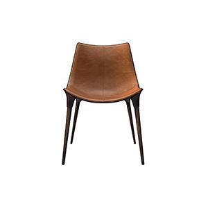 北欧真皮金属餐椅