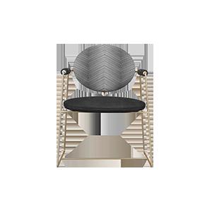 不锈钢皮革软包扶手椅休闲椅