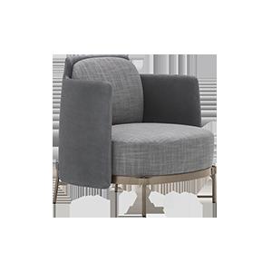 北欧布艺沙发椅