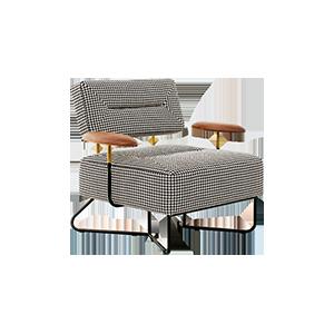 棉麻千鸟格沙发椅