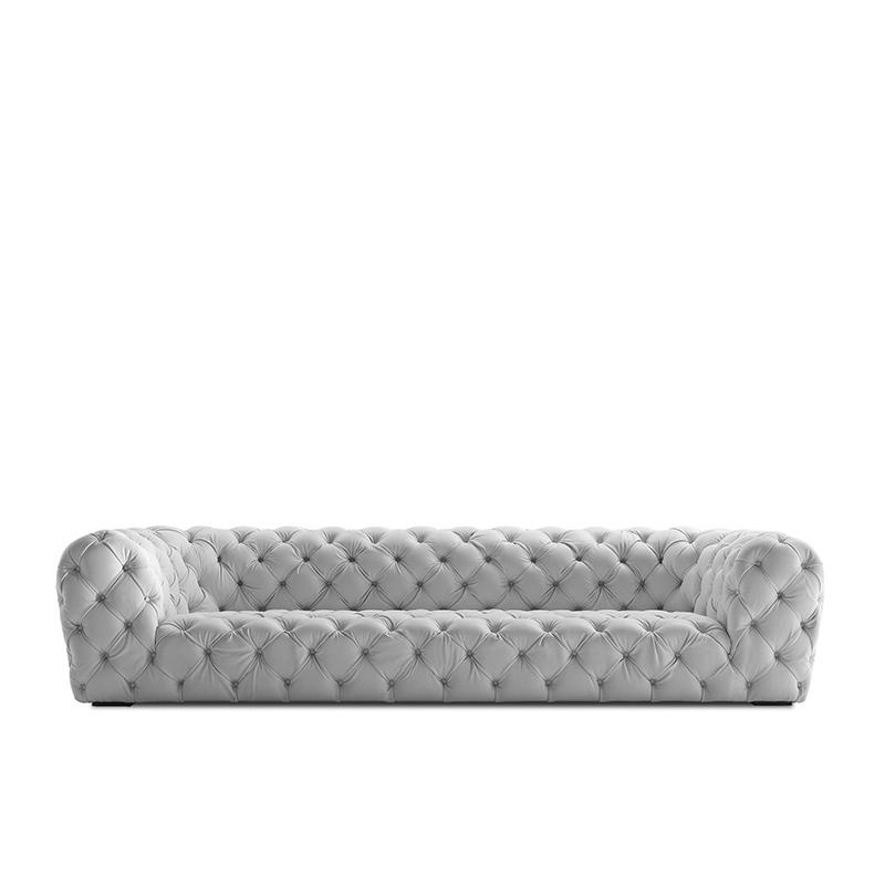 客厅|沙发|创意家具|现代家居|时尚家具|设计师家具|现代拉扣头层牛皮真皮沙发