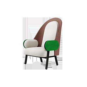 单人休闲布艺沙发椅