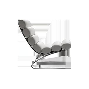 真皮不锈钢创意躺椅