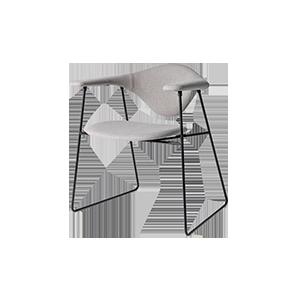 极简金属休闲椅