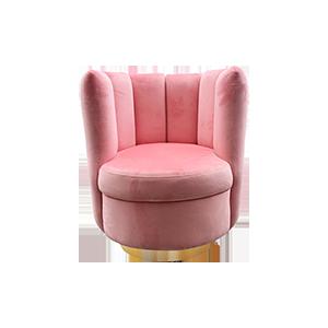 粉色布艺沙发椅