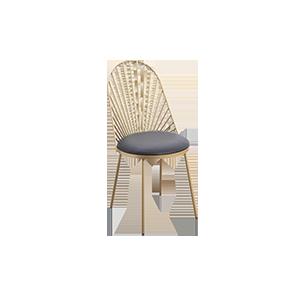 北欧简约金属餐椅