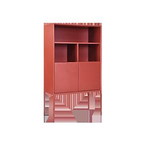 意式极简实木装饰柜