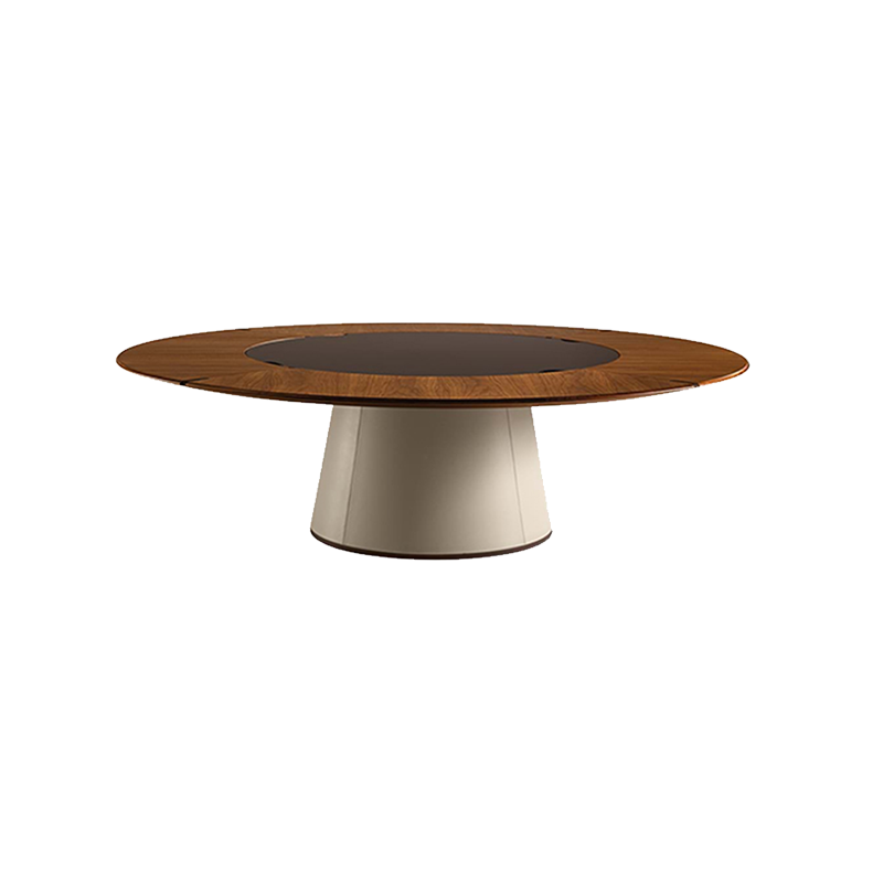 餐厅 餐桌 创意家具 现代家居 时尚家具 设计师家具 意式极简实木大圆桌餐桌