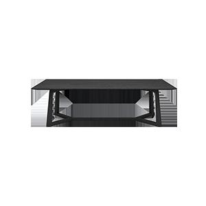 意式极简长方形餐桌
