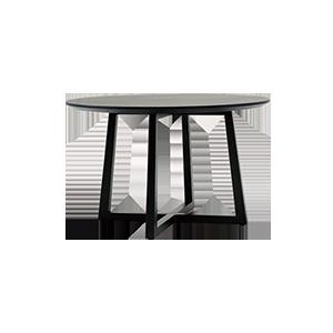 意式极简新中式圆形餐桌
