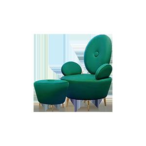 创意北欧单人沙发/脚蹬
