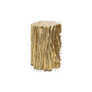 树脂金色仿树根头边几角几