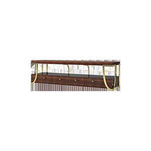 美式轻奢电视柜实木电视柜