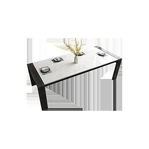 意式极简方形大理石餐桌