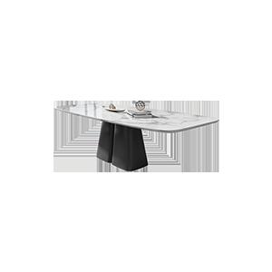 意式极简大理石台面餐桌