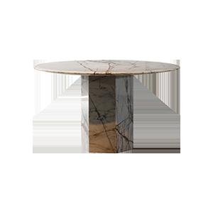 现代简约大理石圆餐桌
