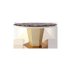 后现代大理石圆餐桌