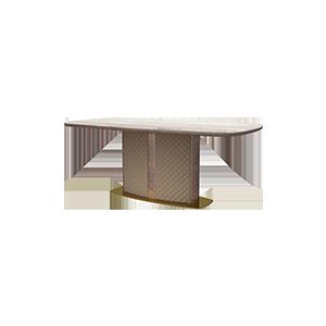 后现代轻奢长方形餐桌