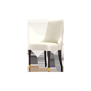 现代轻奢意式真皮餐椅