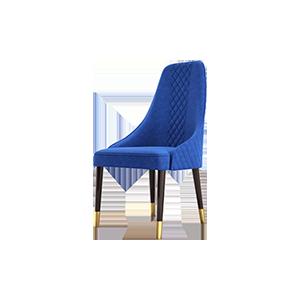 后现代轻奢意式真皮餐椅