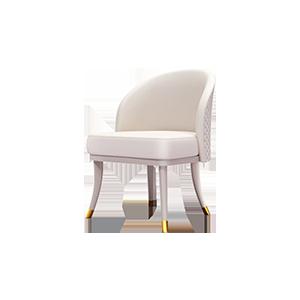 意式轻奢真皮餐椅