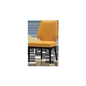 现代轻奢真皮餐椅