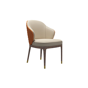 后现代简约轻奢实木餐椅
