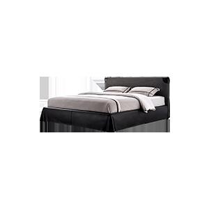 意式极简个性优雅双人床
