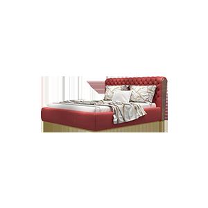 现代美式轻奢实木双人床