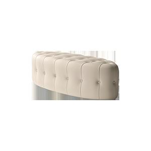 现代卧室床榻真皮床尾凳