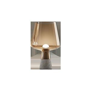 现代玻璃水泥台灯