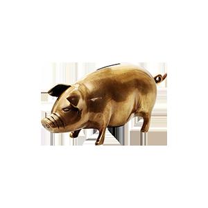 黄铜金猪存钱罐饰品摆件