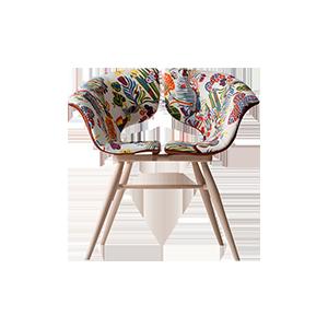印花蝴蝶设计休闲椅