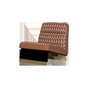 软包实木皮艺休闲椅