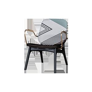 现代北欧不锈钢单人休闲椅