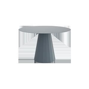 北欧设计师多边形金属圆餐桌