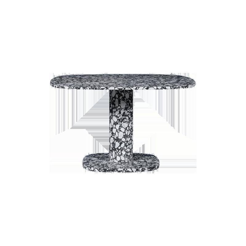 餐厅|餐桌|创意家具|现代家居|时尚家具|设计师家具|简约黑白花斑石纹餐桌