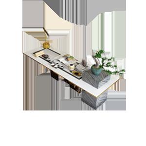 现代轻奢大理石书桌